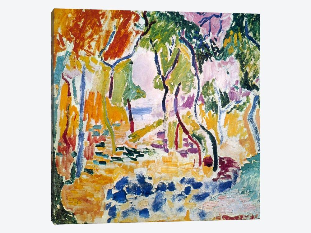 Landscape near Collioure (Study for Le Bonheur de Vivre), 1905 by Henri Matisse 1-piece Canvas Print