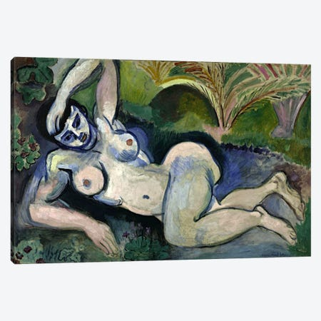 Blue Nude or Souvenir of Biskra (1906) Canvas Print #11132} by Henri Matisse Art Print