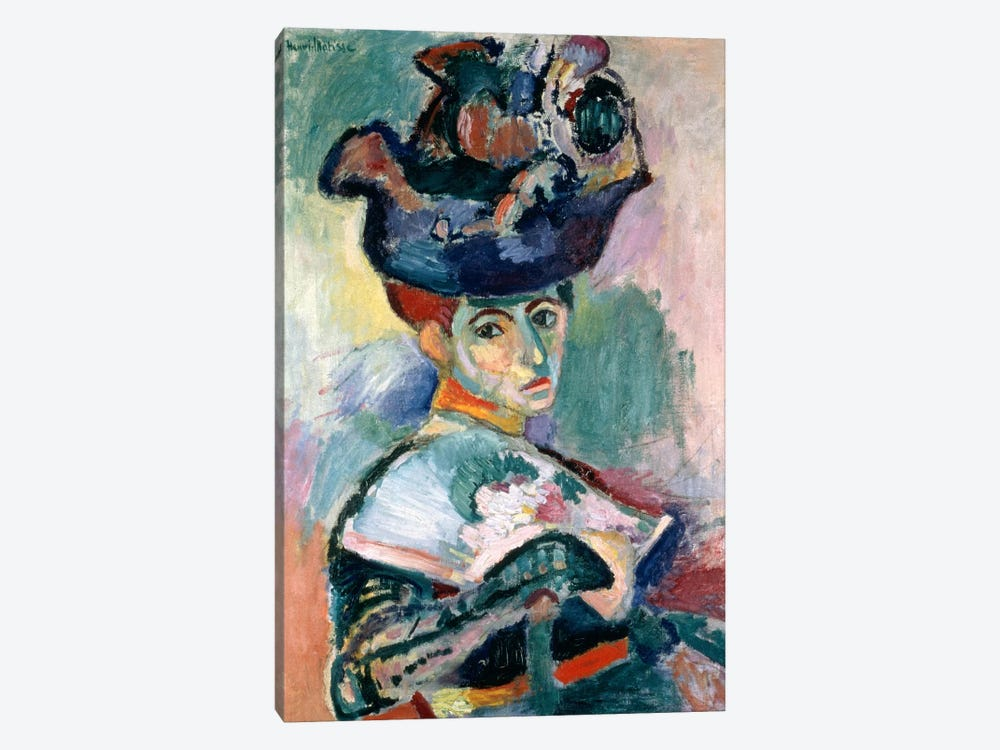 Woman in a Hat (1905) by Henri Matisse 1-piece Canvas Art