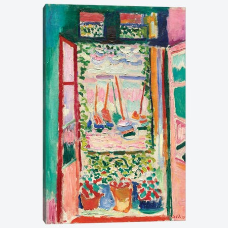 Open Window at Collioure (1905) Canvas Print #11135} by Henri Matisse Canvas Wall Art