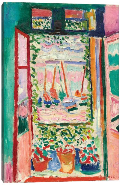 Open Window at Collioure (1905) by Henri Matisse Canvas Wall Art