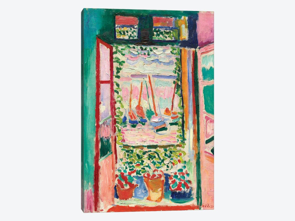 Open Window at Collioure (1905) 1-piece Canvas Print