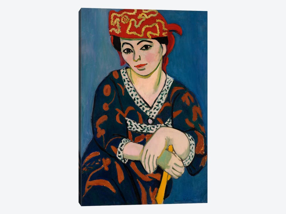 Le Madras Rouge or Red Madras Headdress (1907) by Henri Matisse 1-piece Art Print
