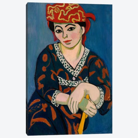 Le Madras Rouge or Red Madras Headdress (1907) Canvas Print #11144} by Henri Matisse Canvas Art Print