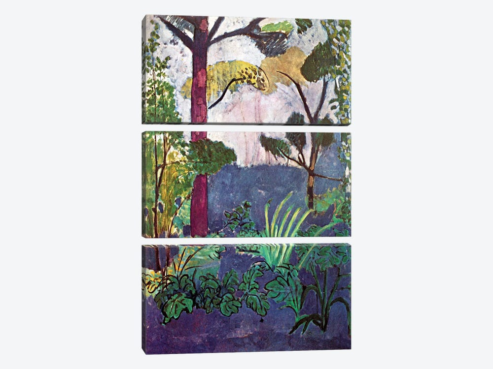 Moroccan Landscape (1913) by Henri Matisse 3-piece Canvas Wall Art