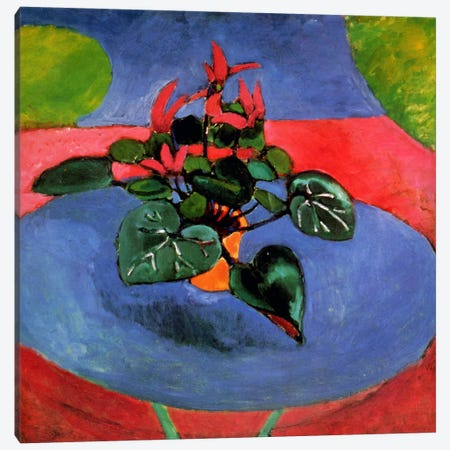 Cyclamen Pourpre Canvas Print #11148} by Henri Matisse Canvas Wall Art