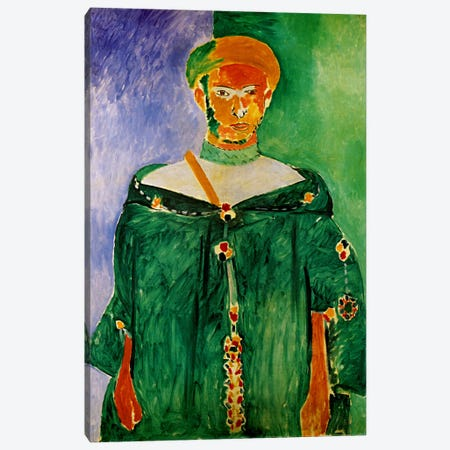 Moroccan in Green (1913) Canvas Print #11149} by Henri Matisse Canvas Art