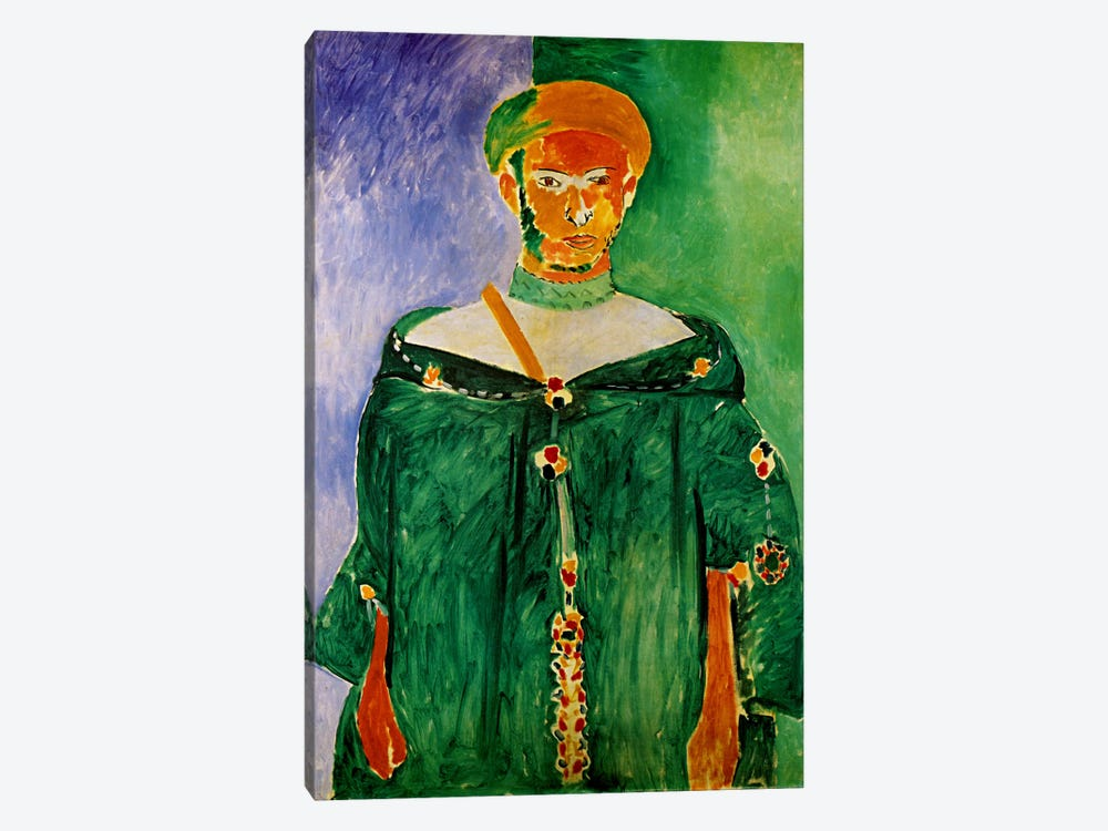 Moroccan in Green (1913) by Henri Matisse 1-piece Canvas Art