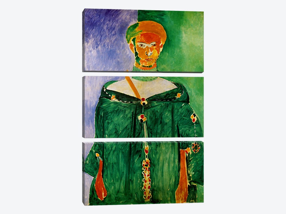 Moroccan in Green (1913) by Henri Matisse 3-piece Canvas Artwork