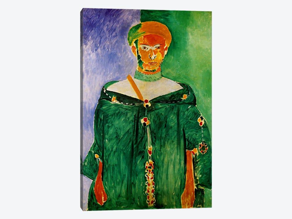 Moroccan in Green (1913) by Henri Matisse 1-piece Canvas Art