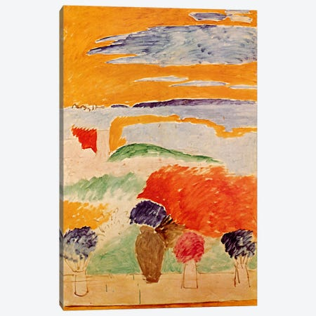 An Open Window At Tangiers, c.1912-13 Canvas Print #11151} by Henri Matisse Canvas Print