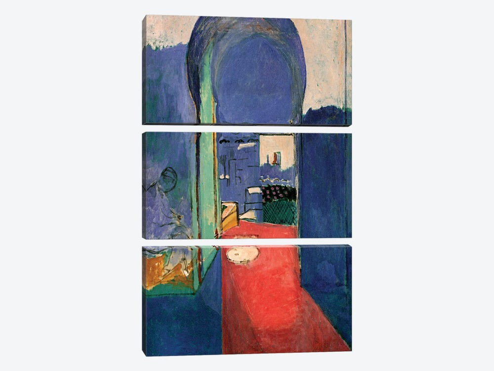 Entrance to the Kasbeh (1912) by Henri Matisse 3-piece Canvas Artwork