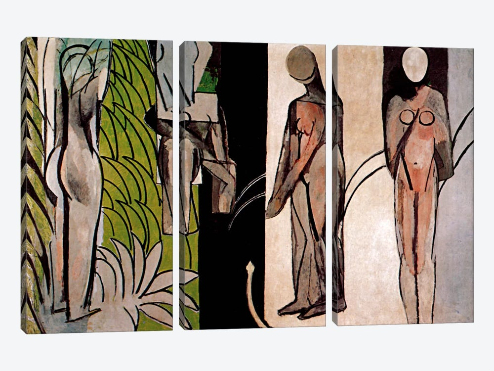 Bathers By a River by Henri Matisse 3-piece Art Print