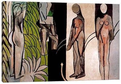 Bathers By a River Canvas Art Print