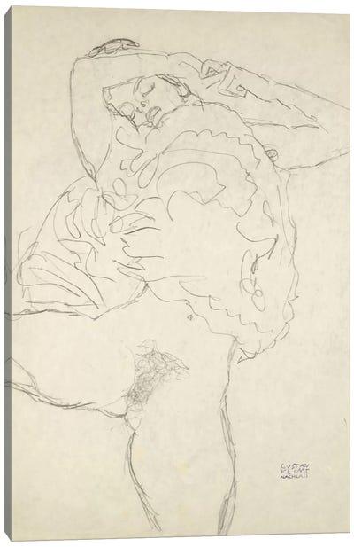 Reclining Semi-Nude With Spread Legs (Liegender Halbakt Mit Gespreizten Beinen) 1917-1918 Canvas Print #1116