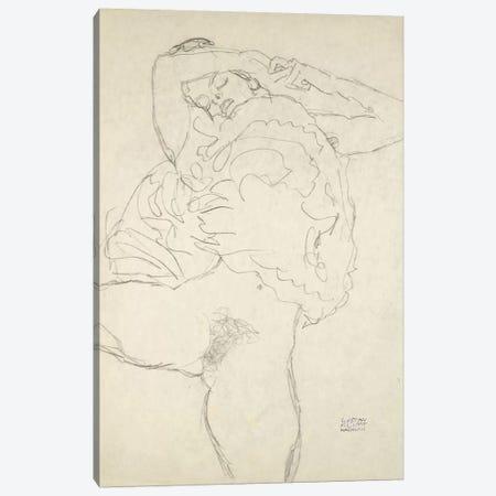 Reclining Semi-Nude With Spread Legs (Liegender Halbakt Mit Gespreizten Beinen) 1917-1918 Canvas Print #1116} by Gustav Klimt Art Print