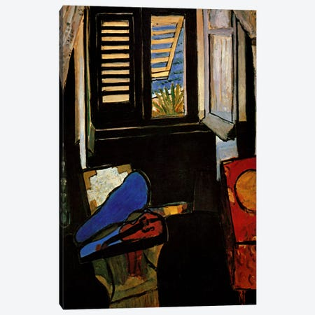 Interior with a Violin Canvas Print #11173} by Henri Matisse Art Print