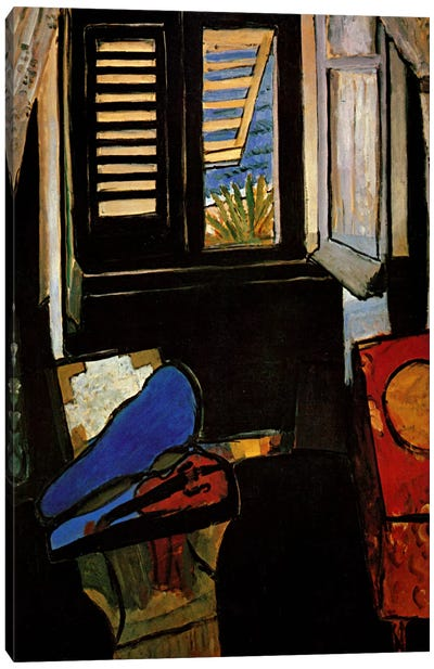 Interior with a Violin Canvas Art Print