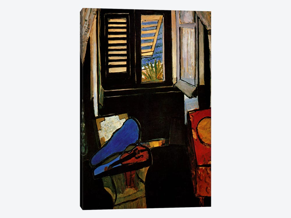 Interior with a Violin by Henri Matisse 1-piece Canvas Print