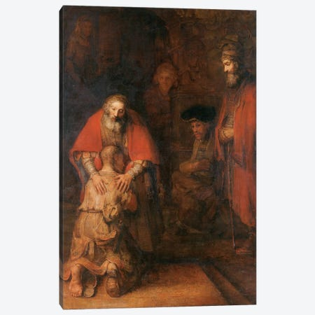 Return of the Prodigal Son c. 1668 by Rembrandt van Rijn Canvas Print