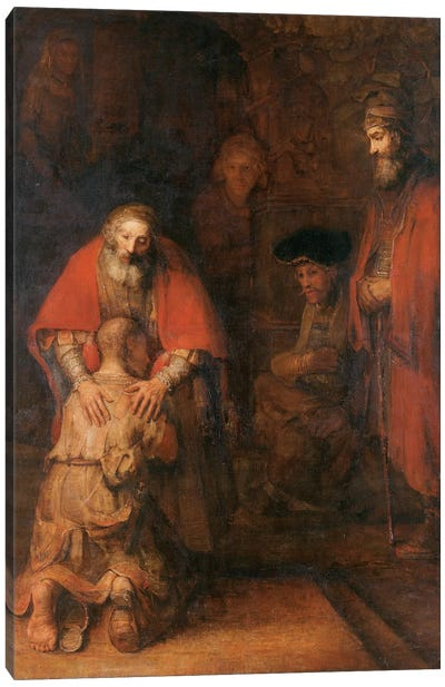 Return of the Prodigal Son c. 1668 Canvas Art Print