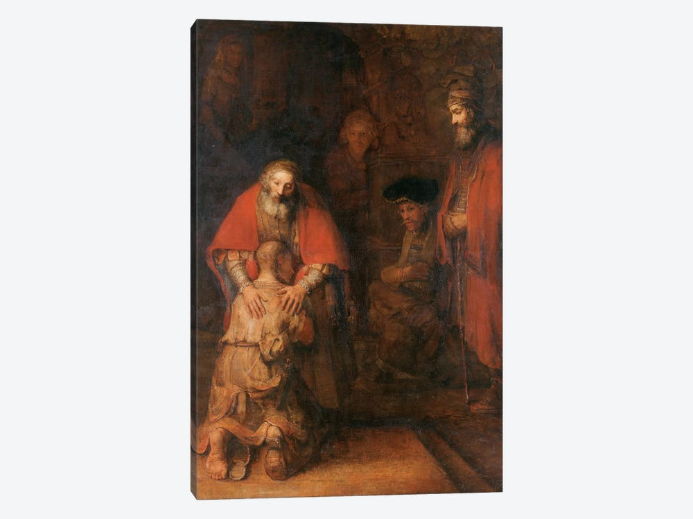 Return of the Prodigal Son c. 1668 1-piece Canvas Art Print