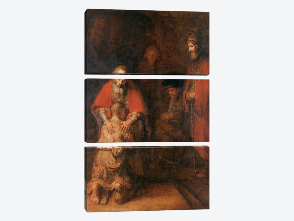 Return of the Prodigal Son c. 1668 by Rembrandt van Rijn 3-piece Art Print