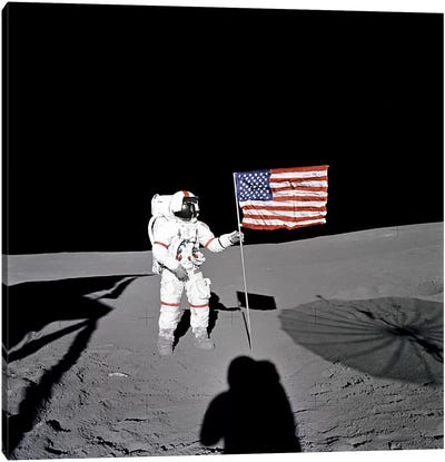 Apollo 14 Shepard Canvas Art Print