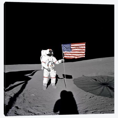 Apollo 14 Shepard Canvas Print #11190} by NASA Art Print