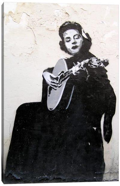 Lady Guitarist Canvas Print #11199