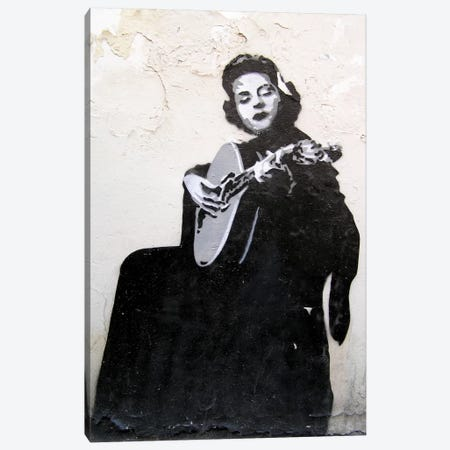 Lady Guitarist Canvas Print #11199} by Unknown Artist Canvas Print