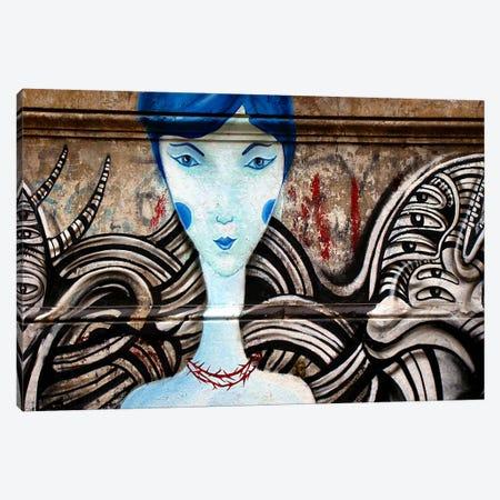 Lady Blue Canvas Print #11202} by Unknown Artist Art Print