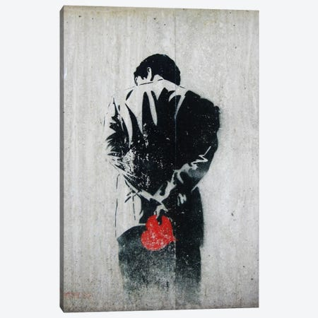 Holding Back 3-Piece Canvas #11204} by Unknown Artist Canvas Art