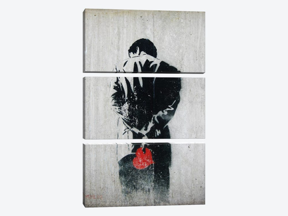Holding Back by Unknown Artist 3-piece Art Print