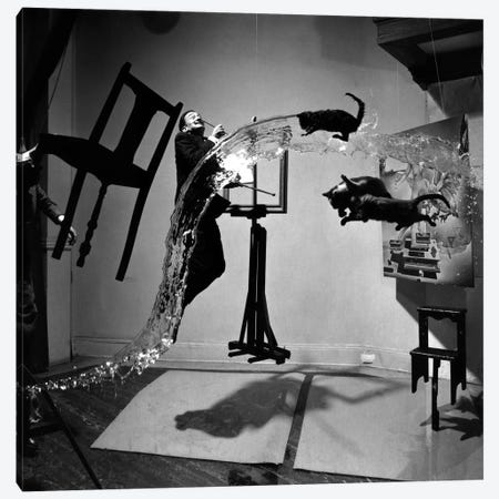 Dali Atomicus, photo Canvas Print #11213} by Philippe Halsman Canvas Art