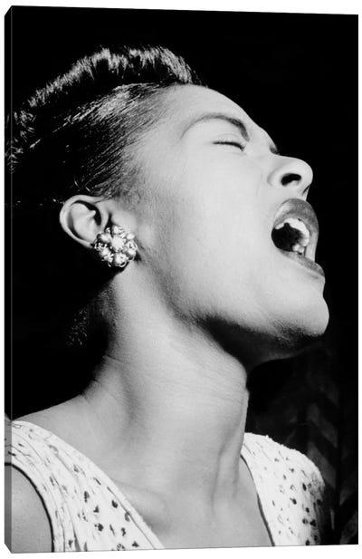 Portrait of Billie Holiday, Downbeat, New York, N.Y., ca. Feb. 1947 Canvas Print #11214
