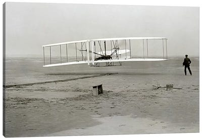 The Wright Brothers - First Flight Canvas Art Print