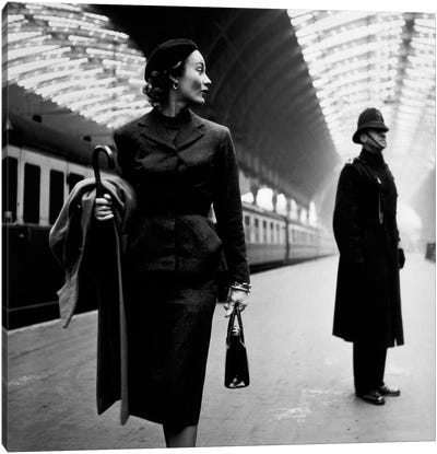 Lisa Fonssagrives at Paddington Station Canvas Art Print