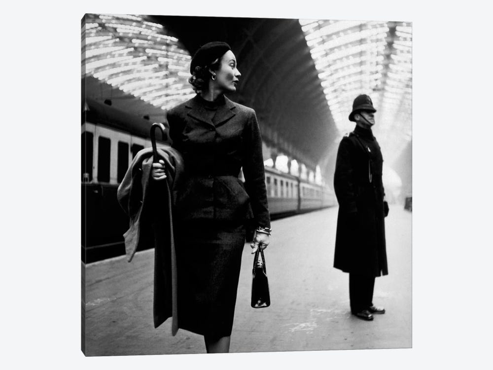 Lisa Fonssagrives at Paddington Station by Toni Frissell 1-piece Canvas Art