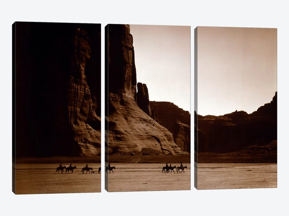 Canyon de Chelly, Navajo by Unknown Artist 3-piece Art Print