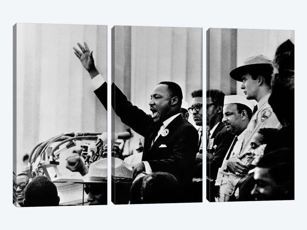"Martin Luther King ""I HAVE A DREAM"" Speech 3-piece Canvas Art"