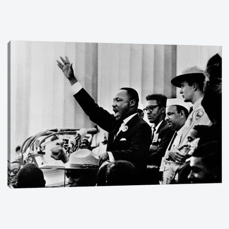 """Martin Luther King """"I HAVE A DREAM"""" Speech Canvas Print #11221} by Unknown Artist Canvas Print"""