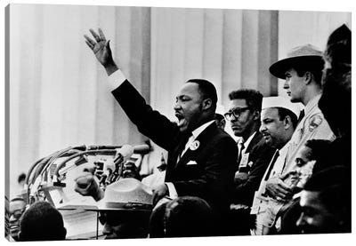 """Martin Luther King """"I HAVE A DREAM"""" Speech Canvas Art Print"""
