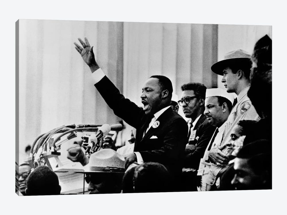 """Martin Luther King """"I HAVE A DREAM"""" Speech by Unknown Artist 1-piece Canvas Art"""