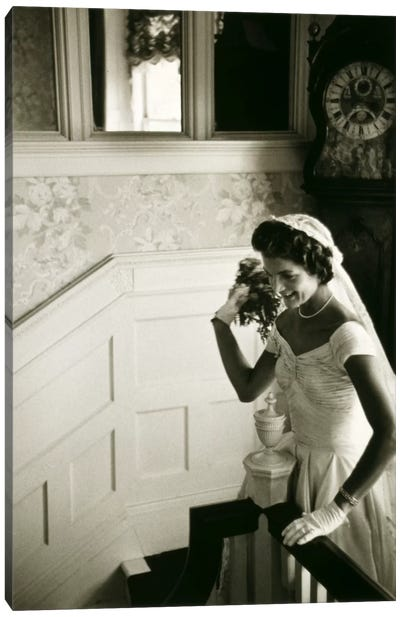 Wedding dress of Jacqueline Bouvier (Kennedy) Canvas Print #11222