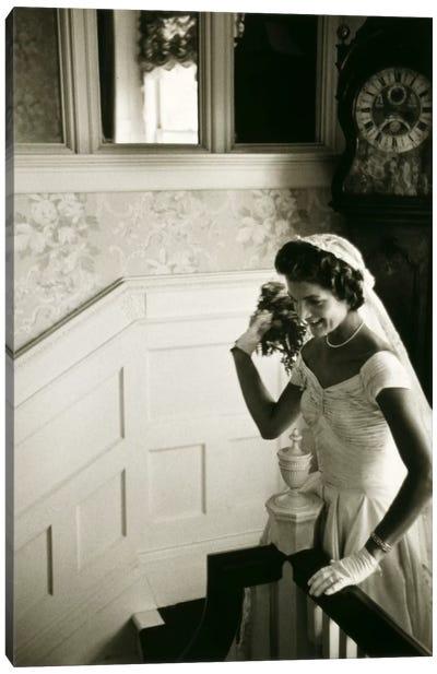 Wedding dress of Jacqueline Bouvier (Kennedy) Canvas Art Print