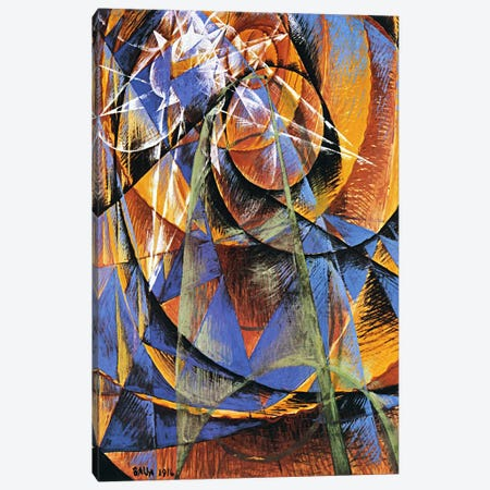 Planet Mercury passing in front of the Sun Canvas Print #11239} by Giacomo Balla Canvas Art