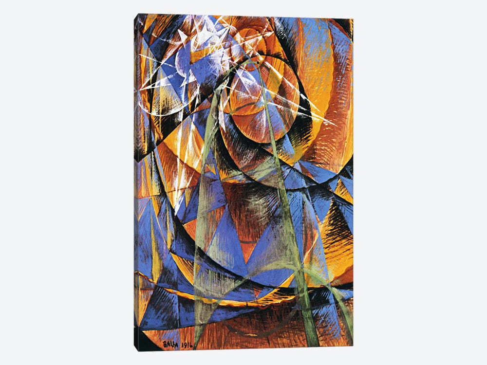 Planet Mercury passing in front of the Sun by Giacomo Balla 1-piece Canvas Art Print