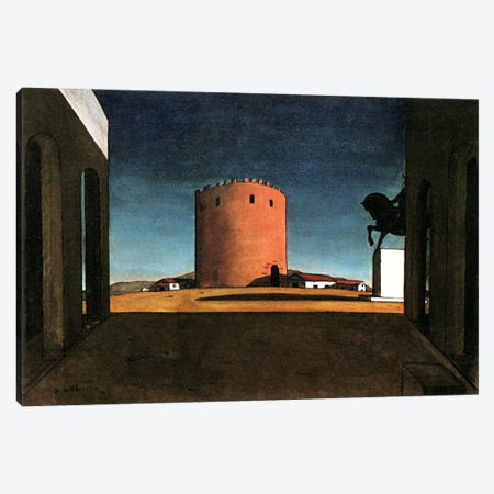 The Red Tower Canvas Print #11249} by Giorgio de Chirico Canvas Print