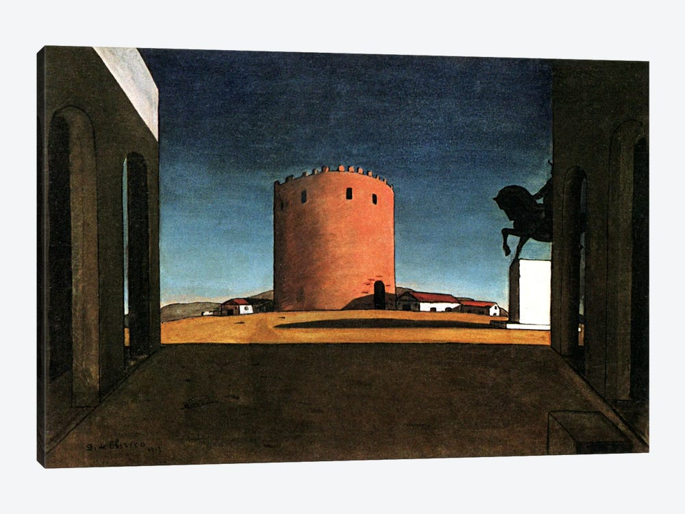 Giorgio de Chirico The Red Tower Giclee Art Paper Print Poster Reproduction